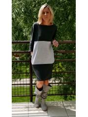 sukienka ROXI - kolor SZARY/GRAFIT