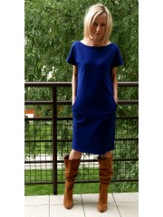 sukienka DIANA - kolor GRANATOWY