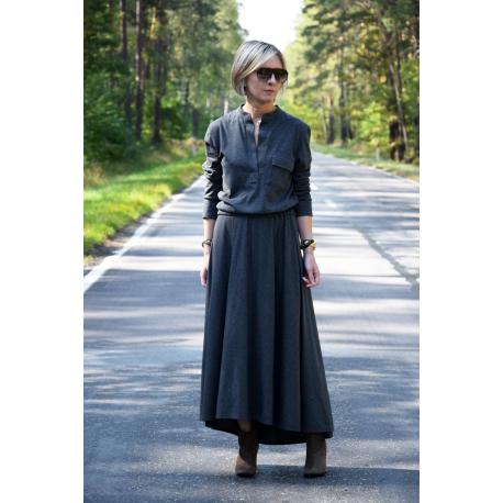 sukienka JADE - GRAFITOWA