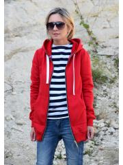 CHLOE - women's zip-up hoodie - red