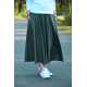 DRESCODE - long, cotton skirt with a bow or knit - CLARET