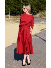 sukienka ADELA - kolor bordowy