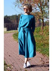 sukienka ADELA - kolor turkusowy