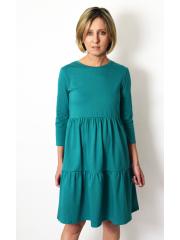 sukienka BLUM - kolor TURKUSOWY