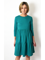 BLUM - midi dress with frills - green