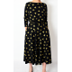 ADELA - Midi Flared cotton dress - khaki