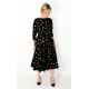 ADELA - Midi baumwolle Kleid - goldene Dreiecke