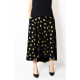 ROMA - long cotton skirt with high waist - golden triangles