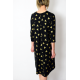 TESSA2 - A-shaped dress with 3/4 sleeves - golden triangles
