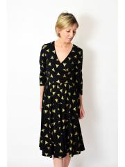 sukienka IVON - złote trójkąty