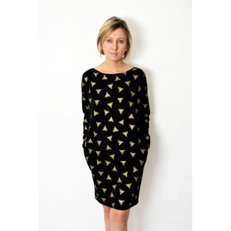 sukienka ALEGRA - złote trójkąty
