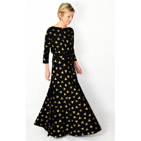 sukienka KORNELIA - złote trójkąty