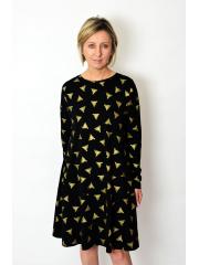 sukienka SMILE - złote trójkąty