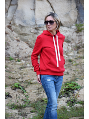 GAJA - sweatshirt with a hood - red