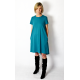 TESSA - A-shaped dress with short sleeves - turquoise