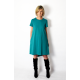 TESSA - A-shaped dress with short sleeves - khaki