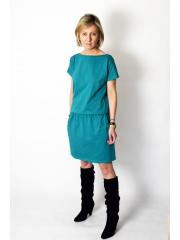 sukienka SPALLA - kolor turkusowy