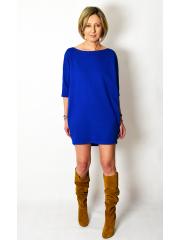 MOON - cotton mini dress tunic - cobalt