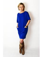 sukienka FLOW - kolor KOBALTOWY