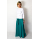 DRESCODE - long, cotton skirt with a bow or knit - turquoise