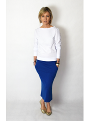LUMO - long cotton skirt - cobalt