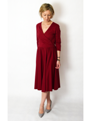 sukienka IVON - kolor BORDOWY
