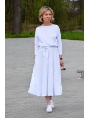 sukienka ADELA - kolorowe kropki