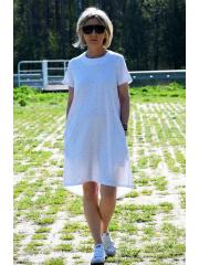 sukienka TESSA - bawełniana sukienka - kolorowe kropki