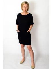 FLOW - cotton dress with pockets - cobalt