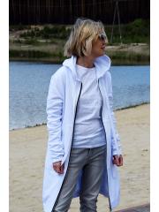 JASPER - langer Hoodie - Weiß