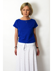 FOCUS - cotton women's T-SHIRT - cobalt color