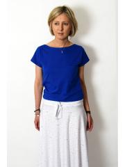 FOCUS -T-Shirt aus Baumwolle - Kobalt farbe