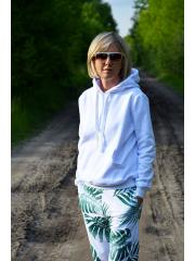 GAJA - sweatshirt with a hood - white
