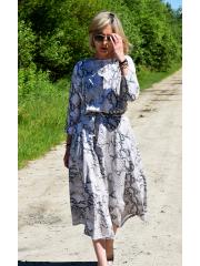 ADELA - Midi Ausgestelltes Kleid gestrickt - monstera