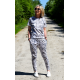 KARINI - knitted ladies' overalls / suit - snake