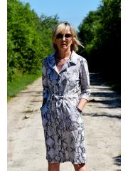 SIMONE - cotton dress with belt