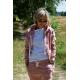 CHLOE - women's zip-up hoodie - dirty pink
