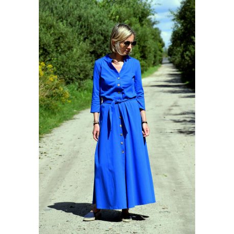 sukienka KARLA - kolor KOBALT