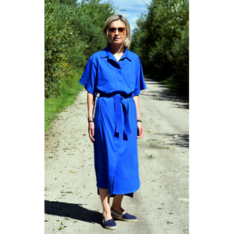 sukienka IGA - kolor KOBALT