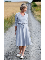 LUCY - Midi Flared cotton dress
