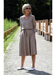 sukienka JENNIFER - groszki mokka