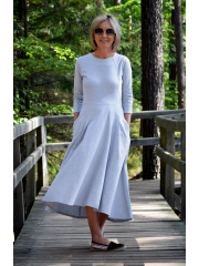 ROBIN- long cotton dress