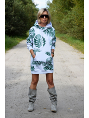 TURBO - LONG HOODIE - monstera