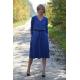 LUCY - Midi Ausgestelltes Kleid gestrickt