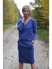 sukienka LIDIA - kolor DENIM