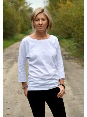 bluzka CLER - kolor BIAŁA