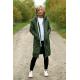 JASPER - long hoodie with pockets - khaki