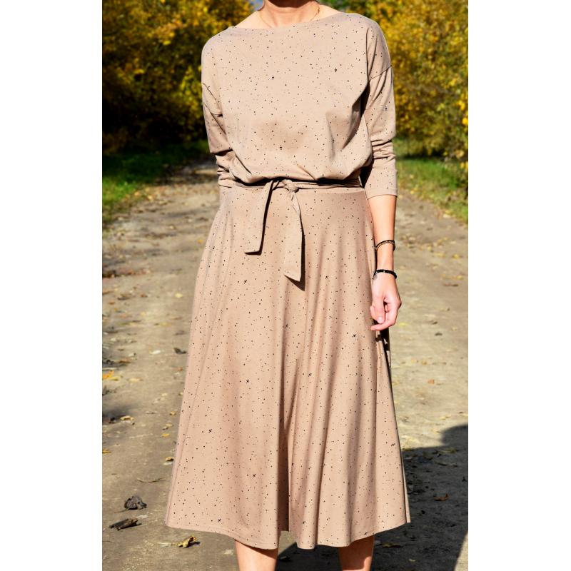 ADELA - Midi Ausgestelltes Kleid gestrickt - schwarze ...