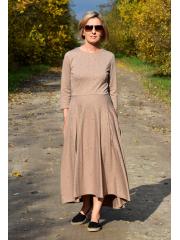 sukienka ROBIN - czarne kropki