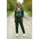 BOYFRIEND - women's sweatpants with buttons - khaki